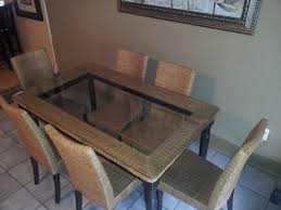 wicker dining table with glass top wicker dining table with glass top awesome pier e dining room chairs