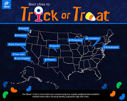 trick or treat index the best places to trick or treat