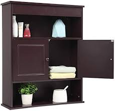wall mounted kitchen storage cupboards bathroom cabinet home kitchen wall mounted storage medicine cabinet with doors and shelves the toilet brown