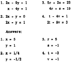 spotuioz solve the following system of equations by using the