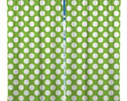 Lime Green Polka Dot Curtains Polka Dot Curtain Etsy