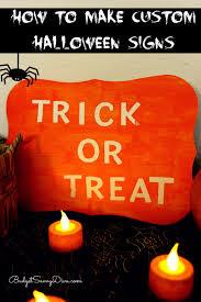 to make custom halloween signs