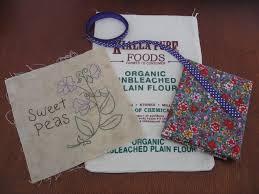 a hopeful nature repurposing a calico flour bag