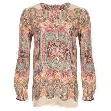 paisley blouse lieblingsstuck paisley print blouse in multi