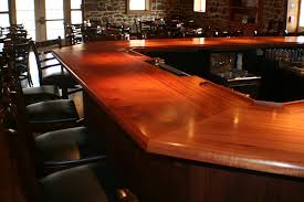 commercial bar tops of wood for a restaurant cafe or pub by grothouse