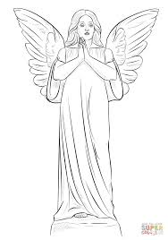 angel coloring page free printable coloring pages