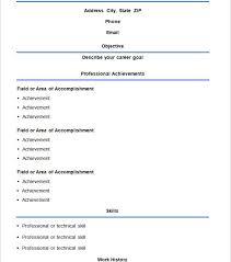 Free Basic Resume Template Free Simple Resume Template Doc736991 Free Resume Templates Word
