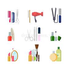 hair and makeup app flat vector beauty shop salon web app icons makeup hair tools