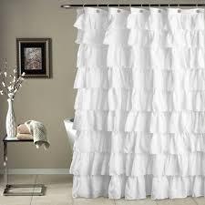 Ruffle Shower Curtain Anthropologie Curtain Pink Shower Curtain Ruffle Shower Curtain