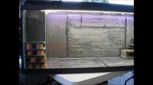 Home Aquarium Decorations My Home Made Slate Fish Tank Design Youtube