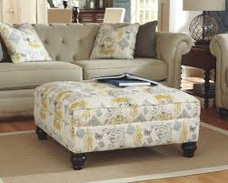 ottoman with patterned fabric ashley 1680408 hindell park patterned fabric oversized accent ottoman
