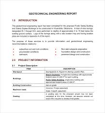 sample engineering report 14 documents in pdf construction