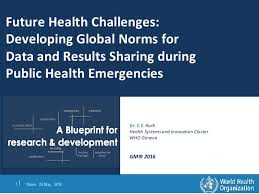 future health challenges developing global norms for data and result