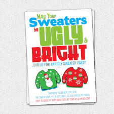 ugly christmas sweater party invitations ugly christmas sweater