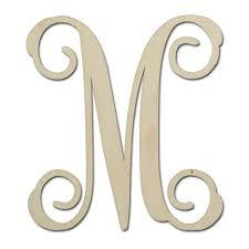 monogram letters 12 unfinished mdf monogram letter m