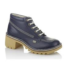 womens kickers boots kickers kopey hi womens blue kickers styling with a