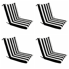 Patio Lounge Chair Cushions Black And White Stripe Outdoor Chair Cushions Patio Outdoor