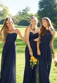 navy blue bridesmaids dresses 30 bridesmaids dresses in all shades of blue weddingomania