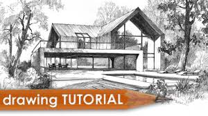 house architecture drawing drawing tutorial how to draw a modern house youtube