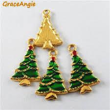 aliexpress com buy 10pcs enamel small christmas tree decoration