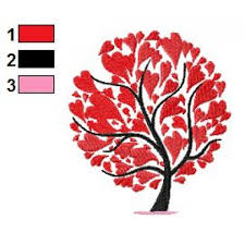 trees embroidery designs