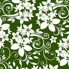 abstract floral ornament on green background free vector