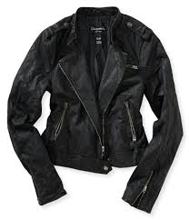 green motorcycle jacket faux leather quilted sleeve moto jacket from aeropostale
