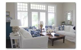 Beach Family Room Ideas Nantucket Family Room This Blue White - Cottage family room