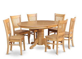 6 pc dinette kitchen dining room set table w 4 wood chair 7 pc oval dinette kitchen dining room set table w 6 wood seat