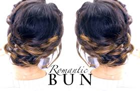 romantic braid bun hairstyle summer updo hairstyles youtube