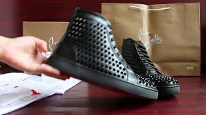 super custom high end christian louboutin black leather with