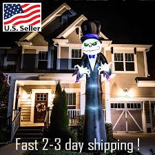 16 ft x 6 ft lighted reaper halloween inflatable new in box huge