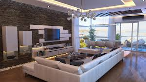 Bachelor Pad Bedroom Apartments Elftug Stone Feature Wall For Modern Bachelor Pad