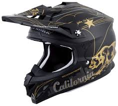 black motocross gear scorpion vx 35 golden state helmet revzilla