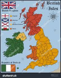 map flags british isles stock vector 292392851 shutterstock