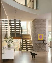 Stone Banister Pretty Living Room With Stone Walls Also Stairs With Glass