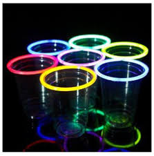 glow in the cups glow sticks around cups for a party at creativity