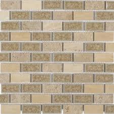 shop 12x12 roman collection desert tan brick mosaic in a blend of