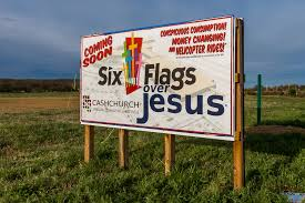 Six Flags Meme - six flags over jesus sign posted at future cross church site in