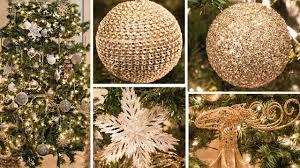 tree decorations gold lights decoration