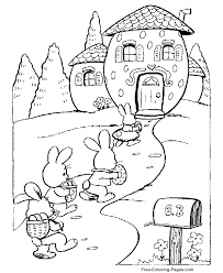 coloring pages easter bunny u0027s house