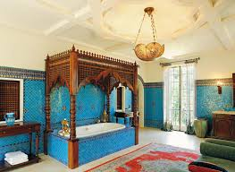 Bedroom Ideas With Blue Comforter Moroccan Themed Bedroom Decorating Ideas White Clothed Cushions