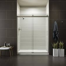 clear glass floor l kohler k 706009 l mx levity bypass shower door with handle and 1 4