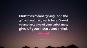 gift giving quotes vincent peale quote uc is the season of