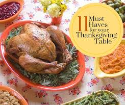 11 must haves for your thanksgiving table