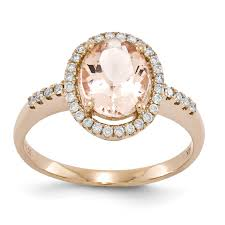 gold and morganite ring 14k gold morganite diamond ring unclaimed diamonds