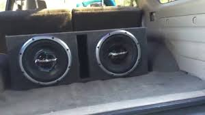 pioneer photo box pioneer chion series 12 s ported box 2500watts car audio