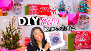Bedroom Ideas For Teenage Girls Diy Holiday Room Decorations Easy Christmas Room Youtube