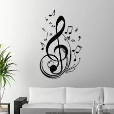 Music Note Wall Decor Unique Black Music Note Wall Sticker Home Living Room Arts Wall