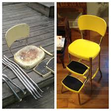 Old Metal Folding Chairs That Fold In Step Stool Chair Restore I Want One Of These Kitchen